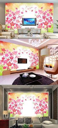 温馨古色古香中国风油画电视客厅背景墙