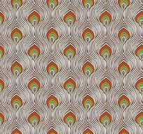 孔雀羽毛印花图案
