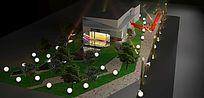 售楼部开放夜景3d模型