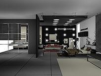 家纺产品展厅3d模型(带区域分割与贴图)