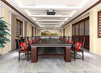 台儿庄古城会议室3d模型