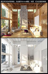 林间木屋室内3d模型