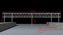 桥架三面翻结构图3d模型
