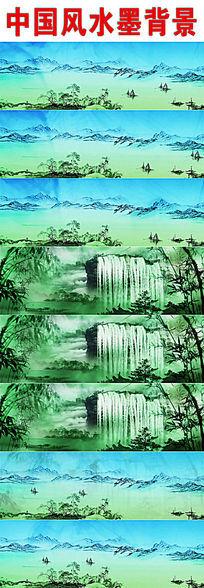 中国风山水水墨背景视频
