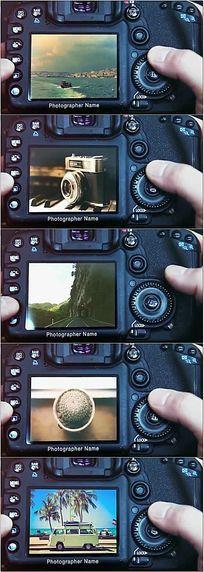 单反相机拍摄演示AE模板