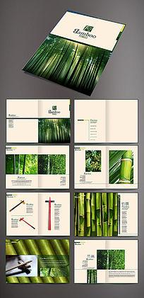 竹子筷子画册版式设计