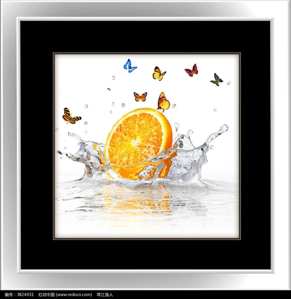橙子餐厅装饰画图片