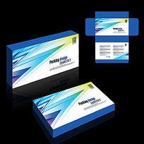 科技电子产品通用蓝色纸盒包装设计