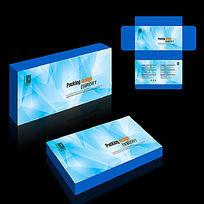 蓝色科技产品包装设计