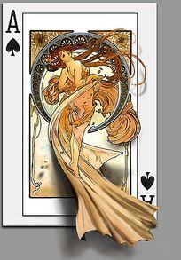 扑克牌3d立体画