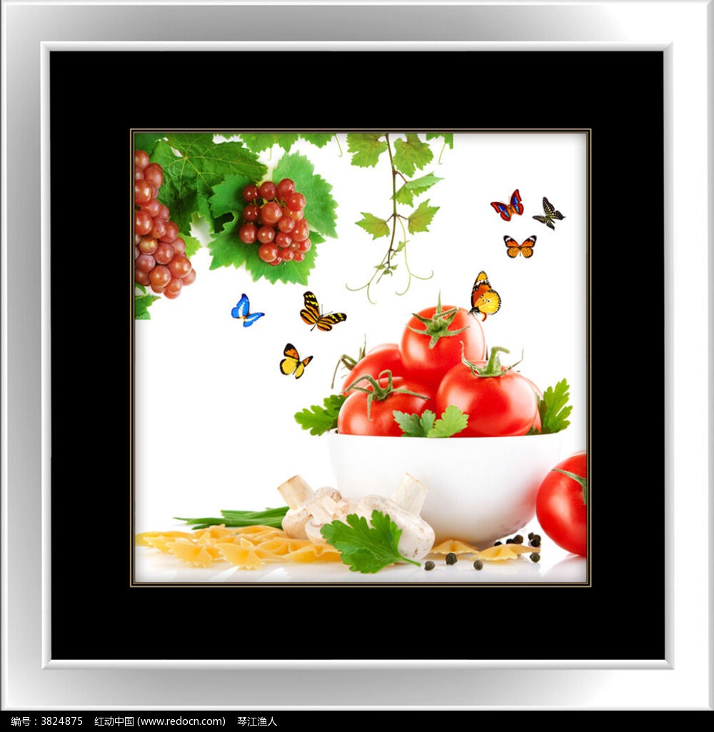 西红柿餐厅装饰画_装饰画\/电视背景墙图片素材