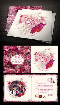 花卉婚礼邀请函设计