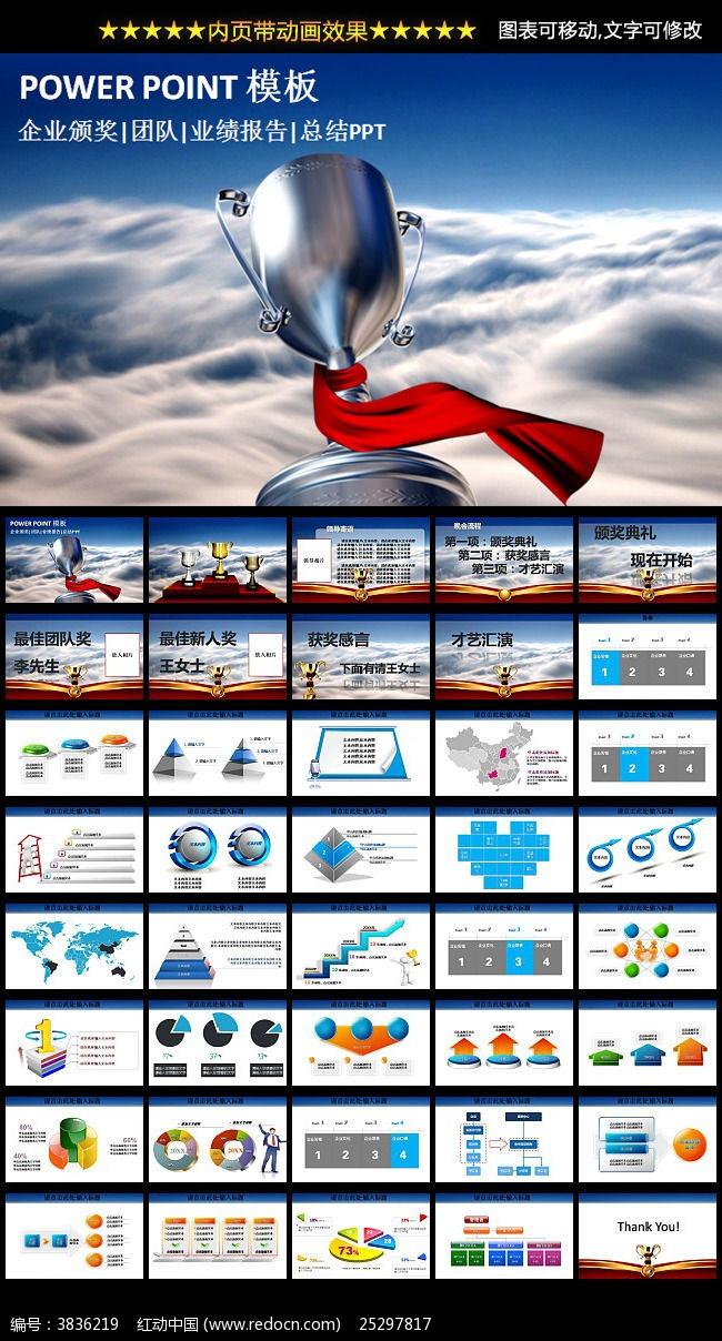 2015年企业工作报告年终总结ppt模板