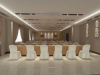 3D大会议室模型和效果图