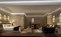 3D酒店大包房模型和效果图