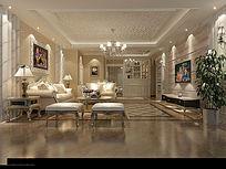 3D欧式客厅模型和效果图