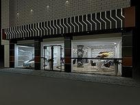 3D汽修店门面模型和效果图