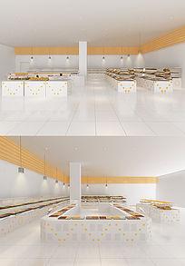 超市面包区3d模型