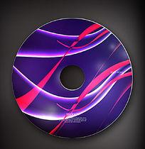 动感蓝色光盘封面素材