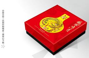 凤凰鸣月月饼礼盒设计