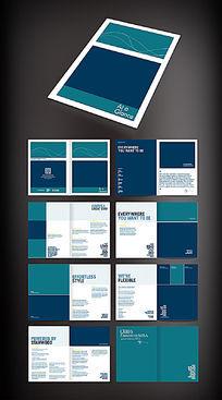蓝色商业画册版式模板
