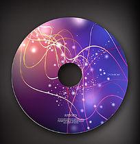时尚动感线条cd盘面设计