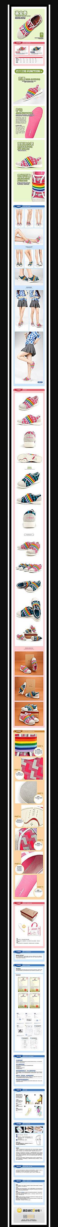 淘宝女童帆布鞋详情页细节展示