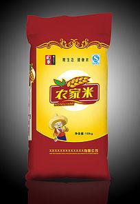 农家米米袋包装设计