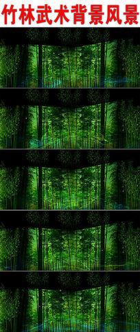 竹林武术背景风景视频背景
