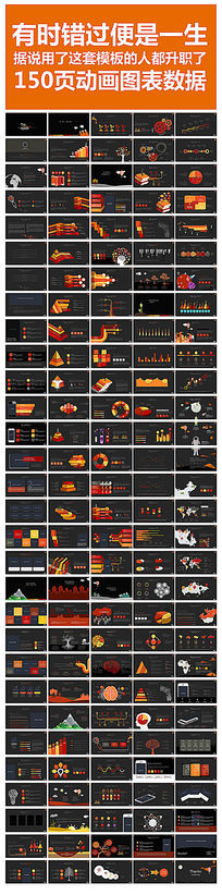 2015年终总结计划数据图表PPT模板
