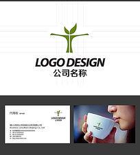 T的字母LOGO标志设计 AI