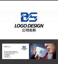 BS的LOGO标志设计 AI