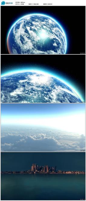 从太空到地球城市视频素材图片