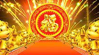 金色羊年祝福视频背景