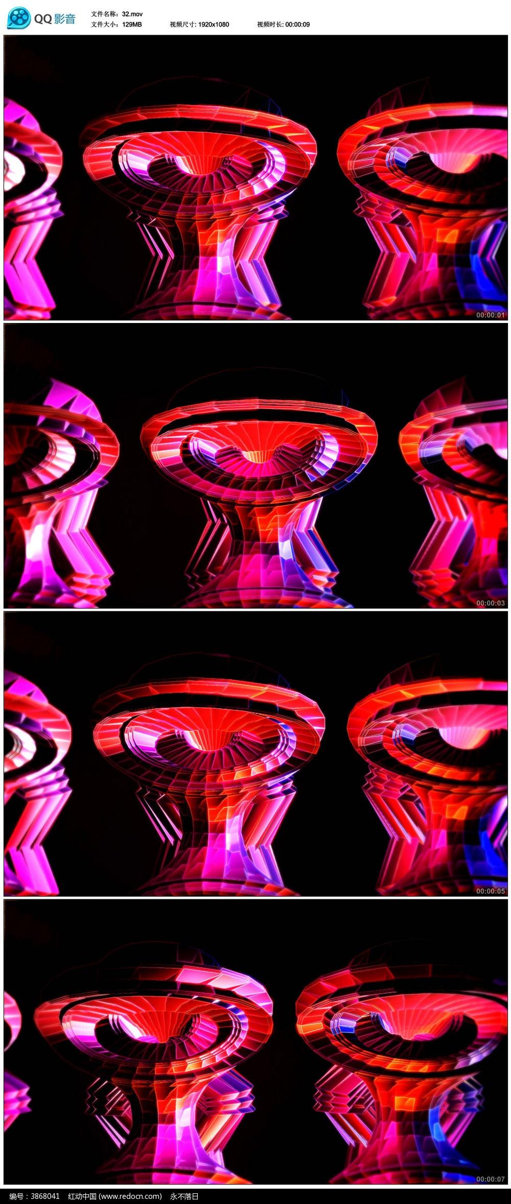绚丽 舞蹈 炫彩 光线 光效 立体背景视频-11款 绚丽动感舞蹈LED视频