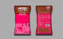 粉色大米包装设计图片