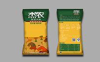 黄色大米包装设计素材
