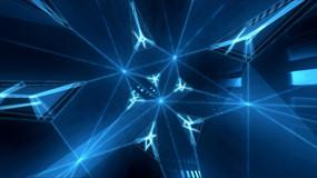蓝色旋转光效动态视频背景