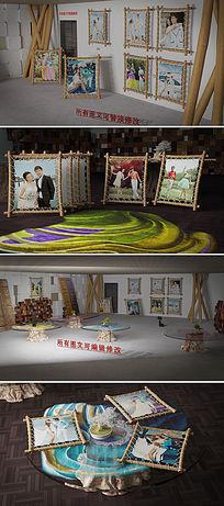 艺术画廊婚礼AE相册模板