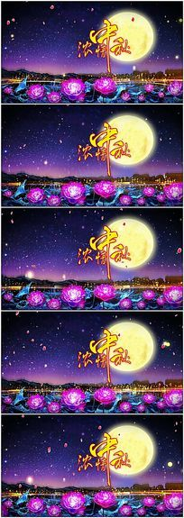 八月十五中秋团圆舞台视频背景