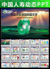 2015新年中国人寿保险公司PPT模板