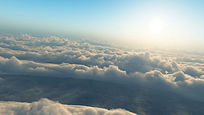 白云云浪滚滚视频素材