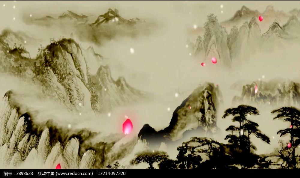 沁园春雪动态视频背景mov素材下载 动态 特效 背景视频设计图片