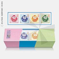 颂福4个装月饼礼盒包装