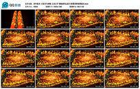 新年喜庆火焰 画轴画卷LED大屏幕背景视频素材