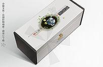 银色清香茗铁观音茶叶包装盒