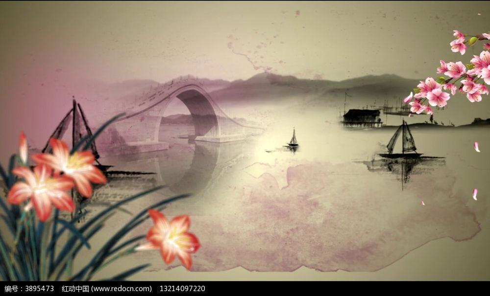 动态|特效|背景视频 中国风水墨江南动态视频背景  请您分享: 素材图片