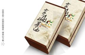 长寿山茶油包装盒设计