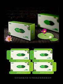 绿色茶叶包装展开图
