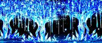 蓝色树开场led动态背景